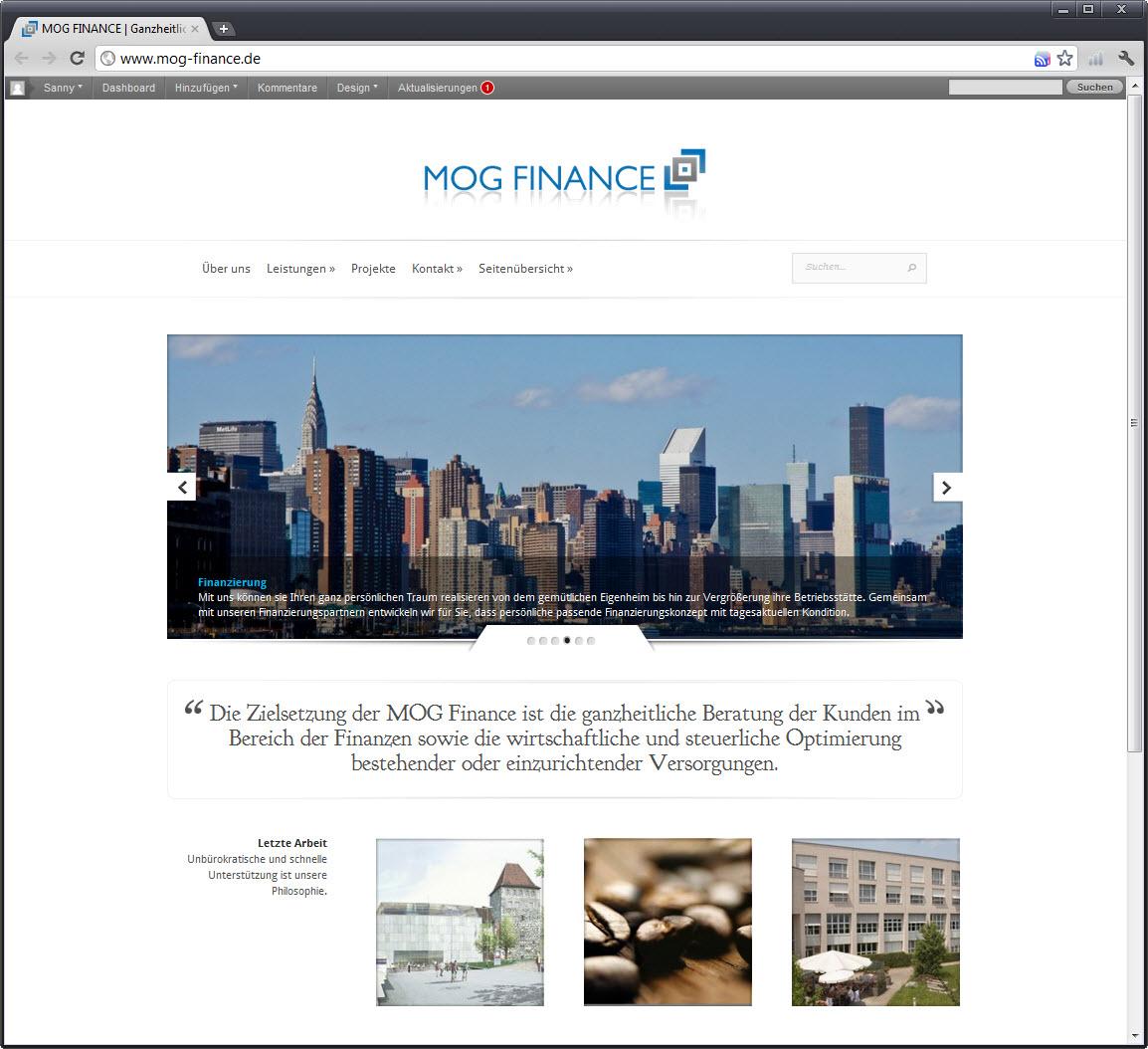 MOG FINANCE Website
