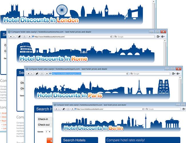 Hotel discounts in … Rome, Paris, London, Berlin